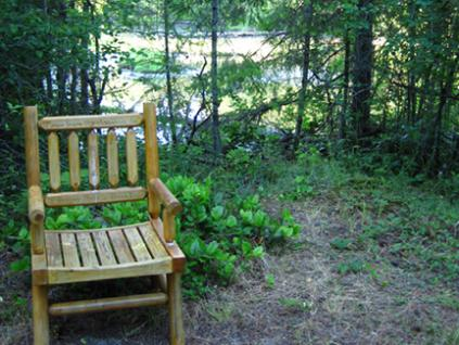 Maria's chair at the Slough