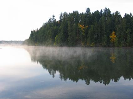 Fall mist in Telegraph Harbour