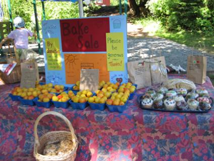 School bake sale at Thetis Island Day 2010